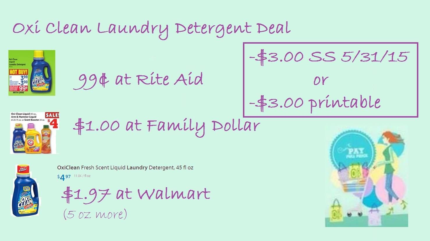 Rite Aid Stock Quote Oxi Clean Laundry Detergent Is A Great Deal This Week $3.00 Q .