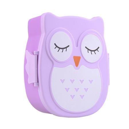 900ML PP Cute Owl food box Food Fruit Storage Container Portable