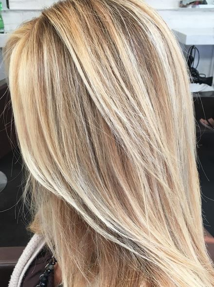Buttery Blonde Highlights Hair Color In 2019 Balayage
