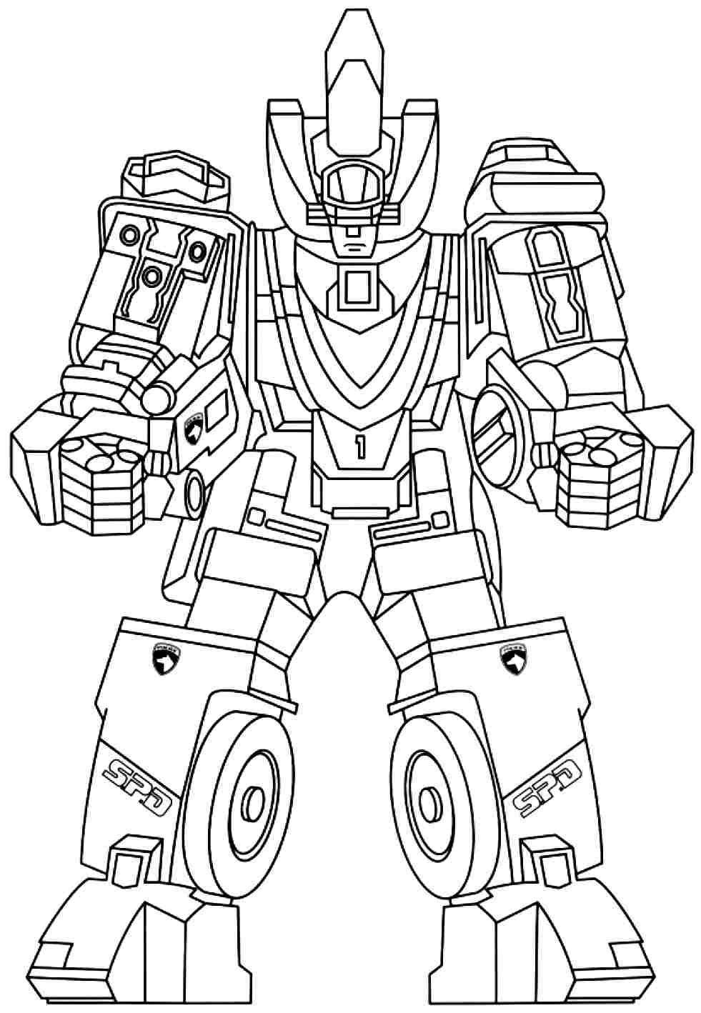 Print Full Size Image Power Rangers Colouring Pages Free For