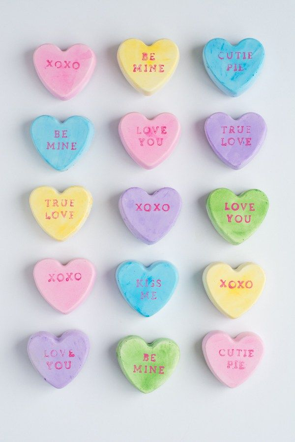 Conversation Heart Magnets This Heart Of Mine Valentine Crafts Valentines Diy Converse With Heart
