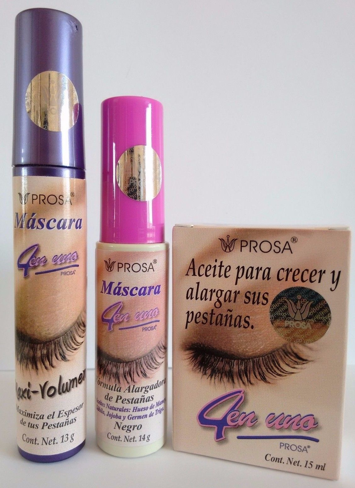 8cdbc01e62c Mascara Prosa 3 Combo Oil For Enlarging Eyelashes & 2 Rimel Aceite De Mamey  Set