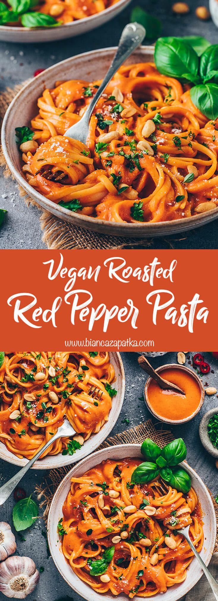 Vegan Roasted Red Pepper Pasta Sauce – Bianca Zapatka | Recipes