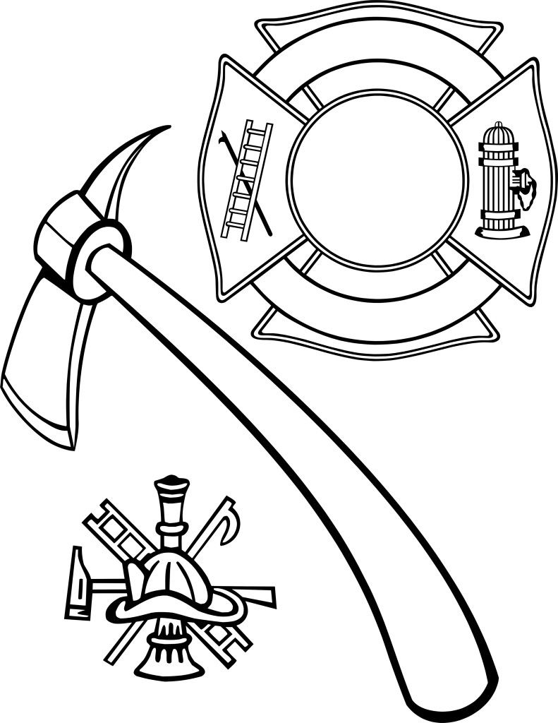Fire Department Maltese Cross Vector Sketch Coloring Page Cross