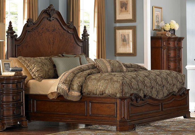 Homelegance Montvail California King Mansion Bed In Rich Warm Cherry 2105k 1ck Elegant Bedroom Master Bedroom Set Furniture