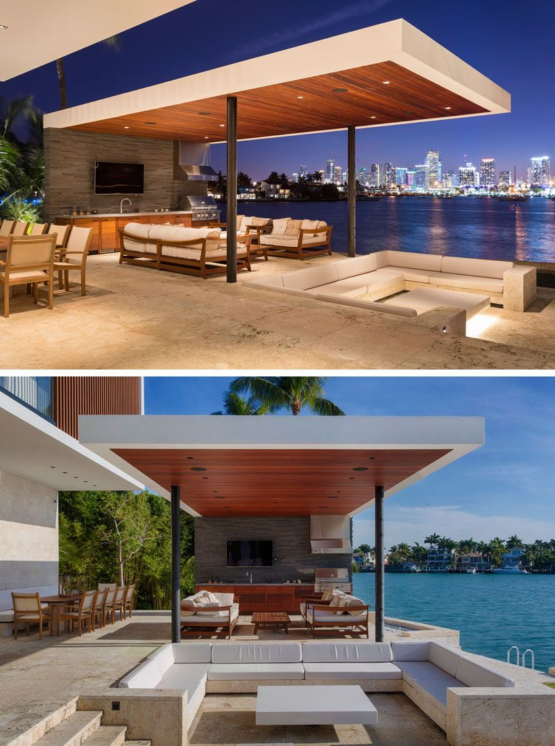Choeff Levy Fischman Design A New Home For The Miami Waterfront Modern Outdoor Spaces Modern Outdoor Outdoor Living Rooms