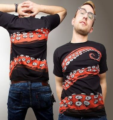 Octohug cool 360 degree print Shirt print design, Cool