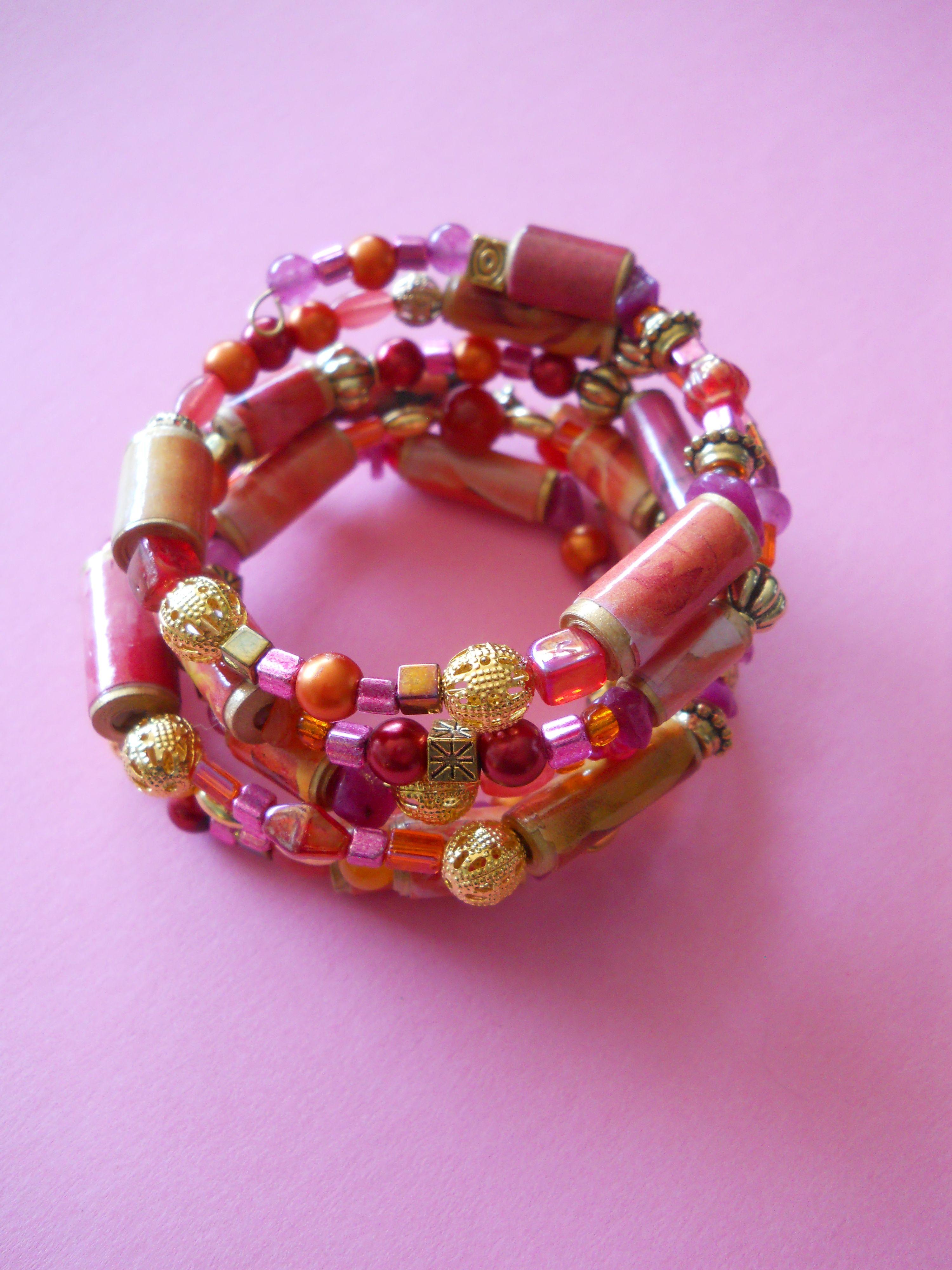 Warm Color Wrapped Bracelet