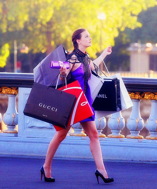 my dream: walking through paris with an armful of shopping bags ...