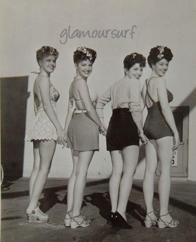 1944 Bathing Beauties Vintage Swimwear Vintage Swimsuits Beach Outfit