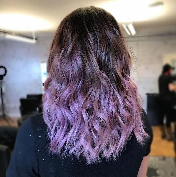 97 Ombre Hair Colors For 2018 In 2020 Purple Hair Tips Lavender Hair Ombre White Ombre Hair