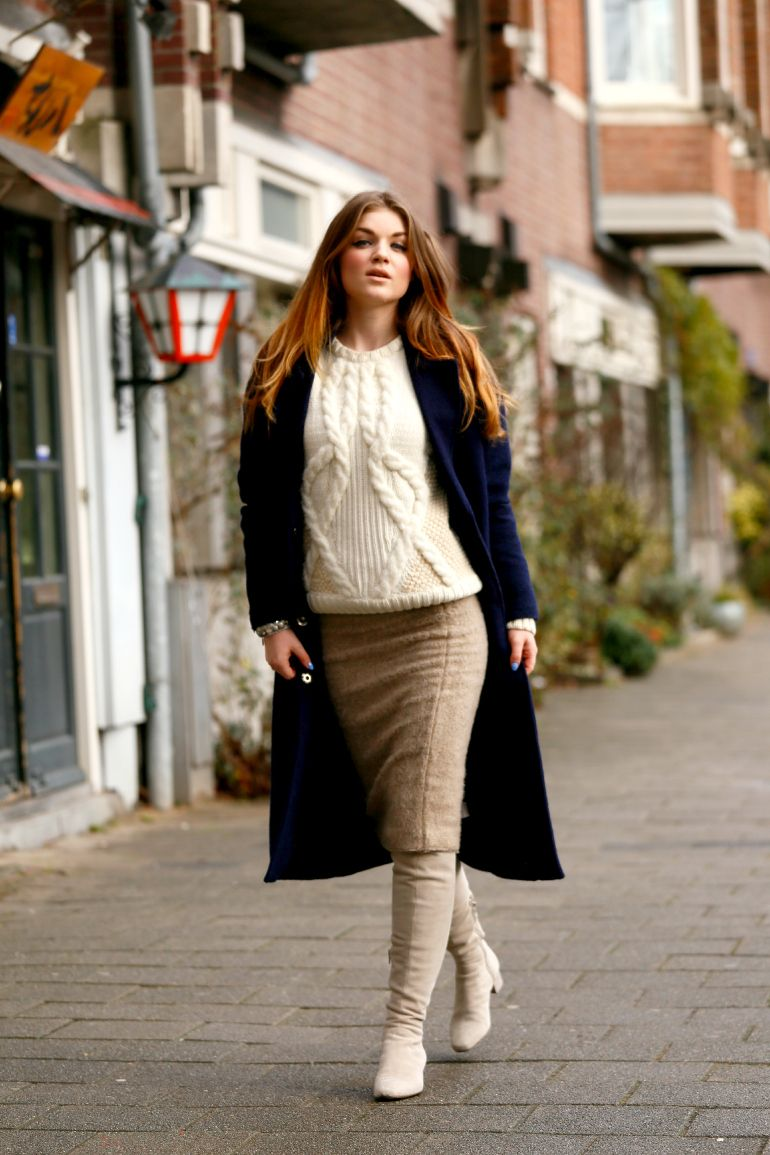 Kokerrok outfit winter