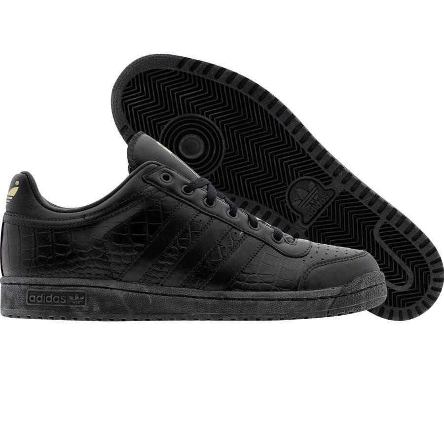 Adidas Top Ten Low Crocodile Print Edition Black Black Metallic Gold 014245 79 99