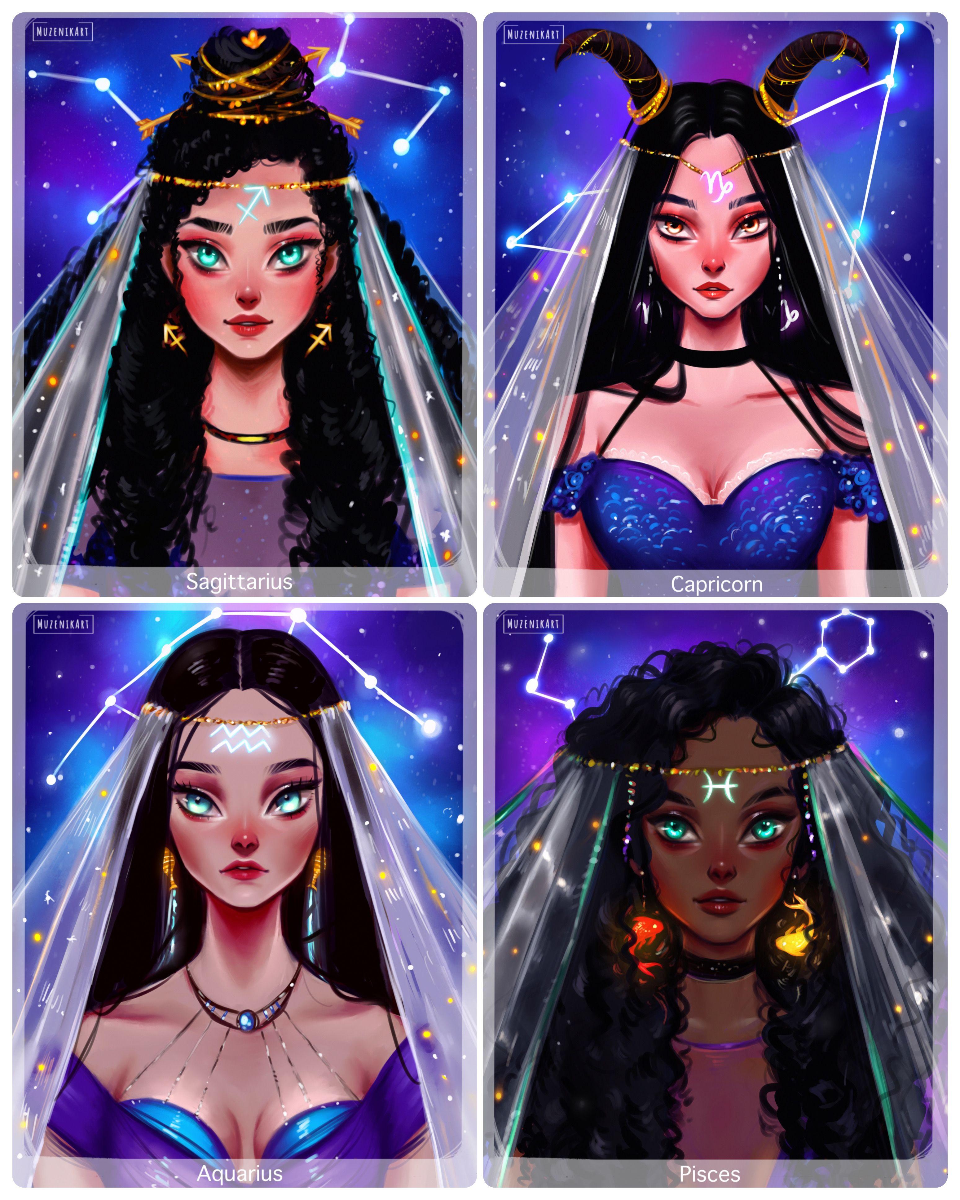 Zodiac Signs Zodiac Art Anime Zodiac Black Girl Magic Art