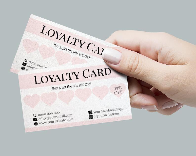 Nail Technician Branding Bundle Nail Artist Marketing Set Etsy Loyalty Card Salon Marketing Materials Loyalty Card Design