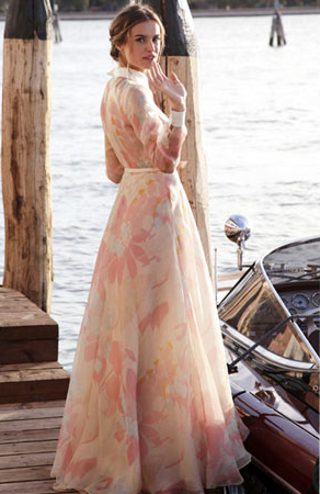 Kasia Smutniak wearing Valentino in Venice.