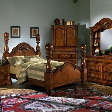 Magnolia Classics 5 Piece Paul Bunyan King Bedroom Set In