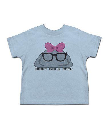 Another great find on #zulily! Light Blue 'Smart Girls Rock' Tee - Toddler & Girls #zulilyfinds
