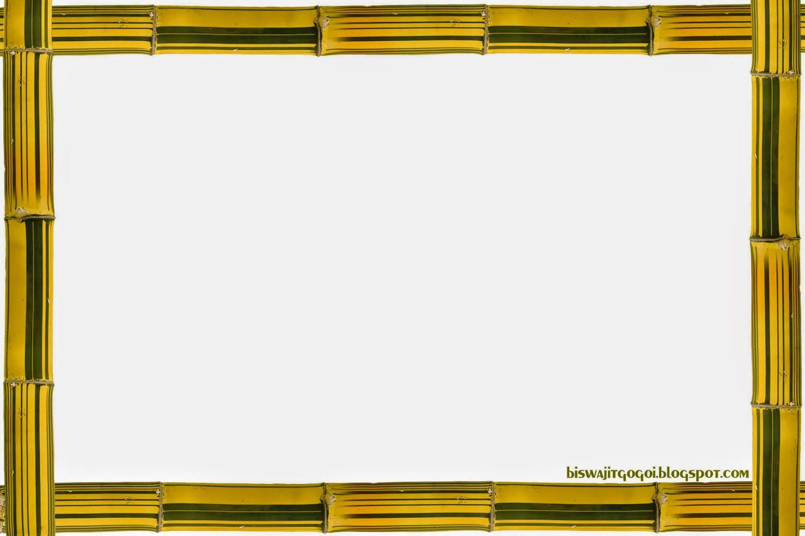 Yellow bamboo Frame | Bamboo Frames | Pinterest