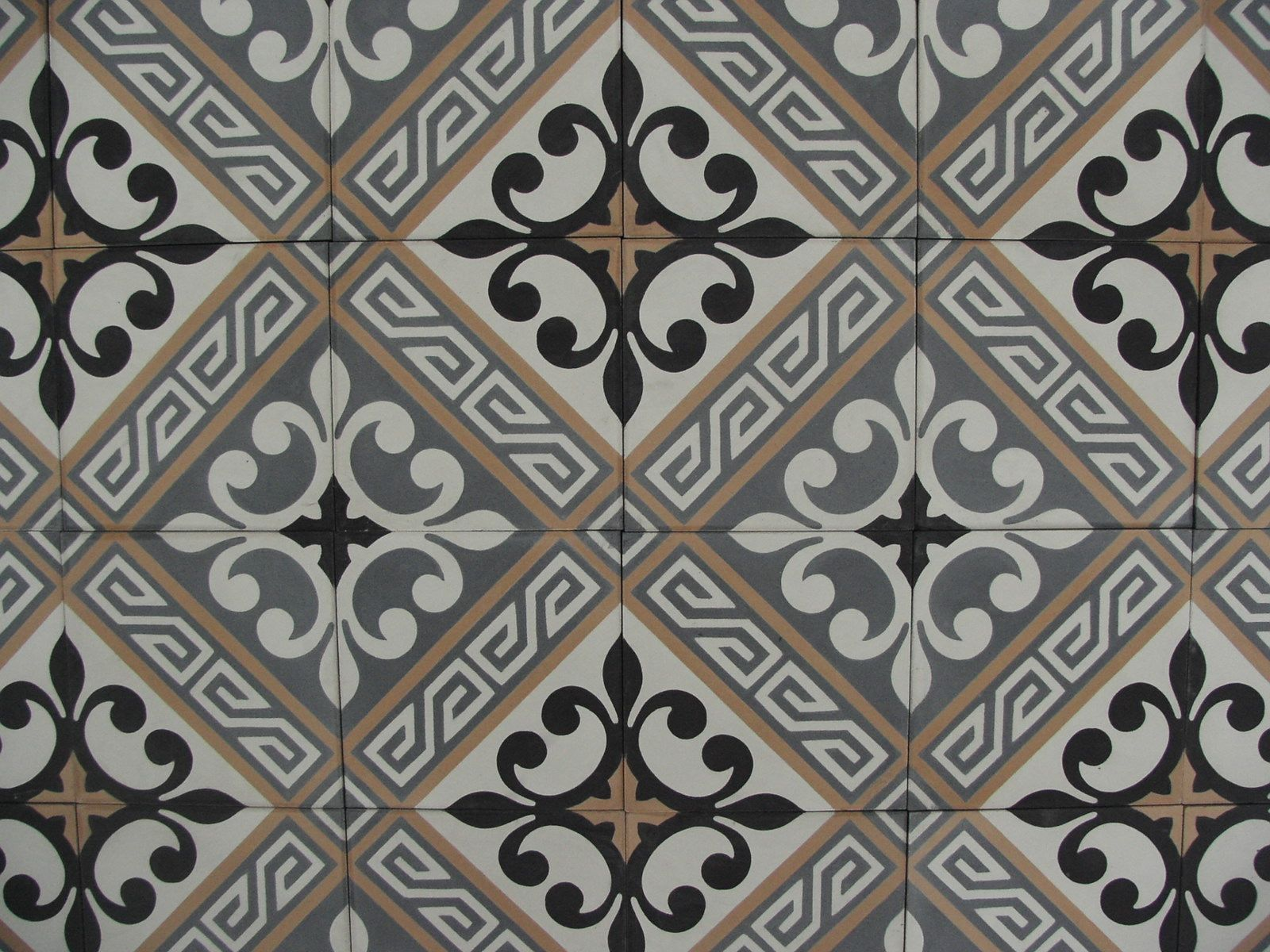 Lilyz black portugese tegels cement tiles encaustic floor tiles collection floorz pisar con - Credence cement tegels ...
