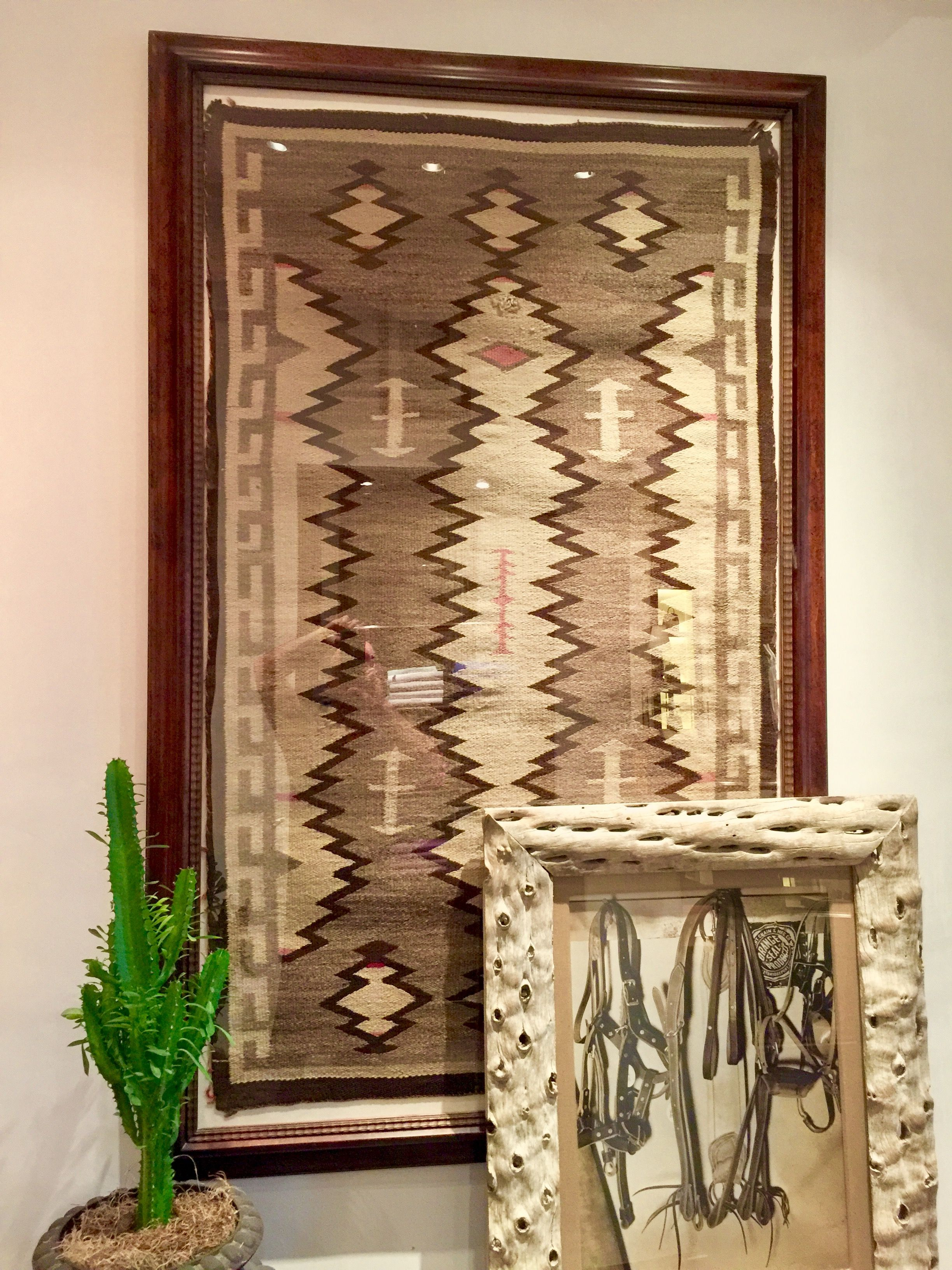 Framed Navajo rug   Home projects   Pinterest