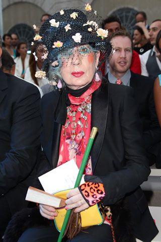 R.I.P. Anna Piaggi, the flamboyant, iconic Italian fashion writer