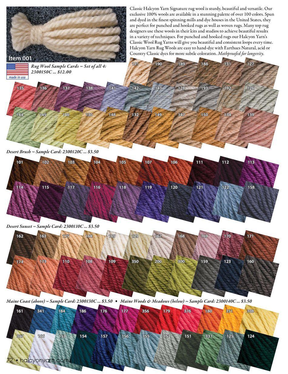 Halcyon Yarn Rug Colors Thread