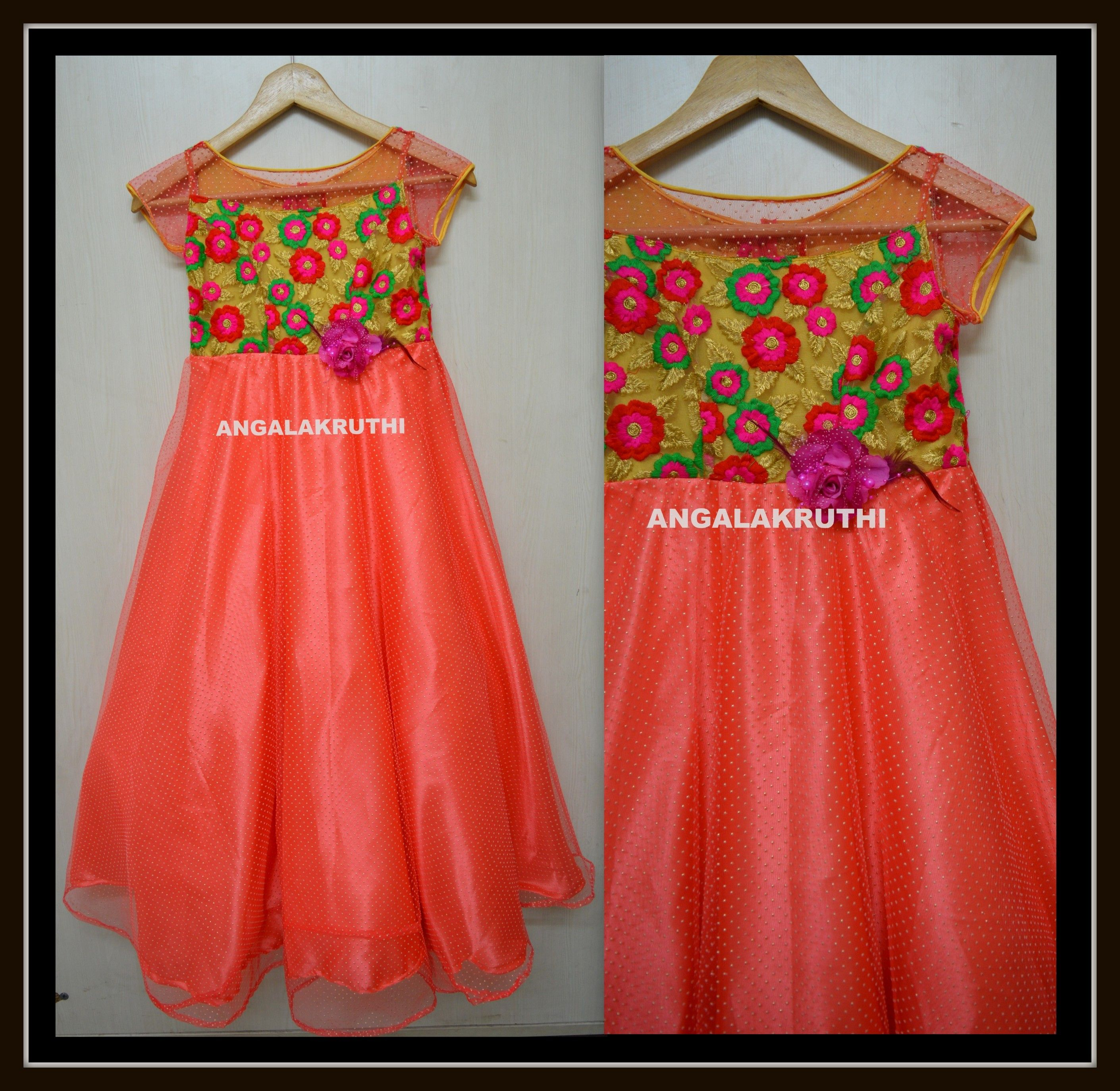 how to make flowers for frock dress