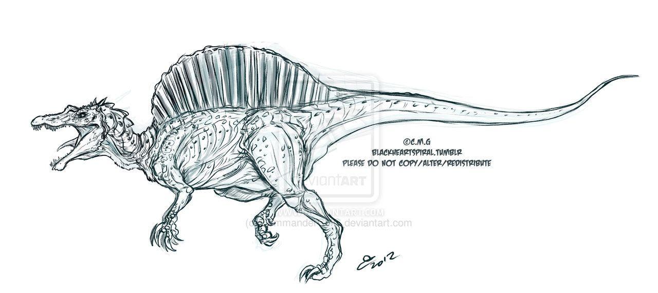 pin on art  spinosaurus