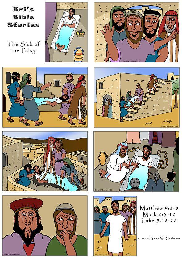Craft of jesus healing paralytic medium resolution for Jesus heals paralyzed man craft