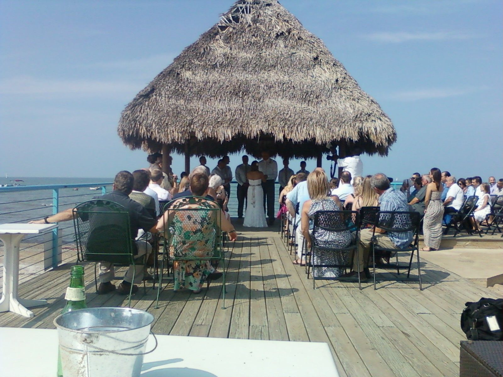 2013 wedding and reception on the beach in Port Clinton, Ohio