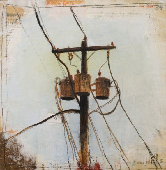 Image result for telephone wires paintings