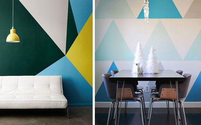 Ideas para pintar paredes con tri ngulos - Disenos para pintar paredes ...