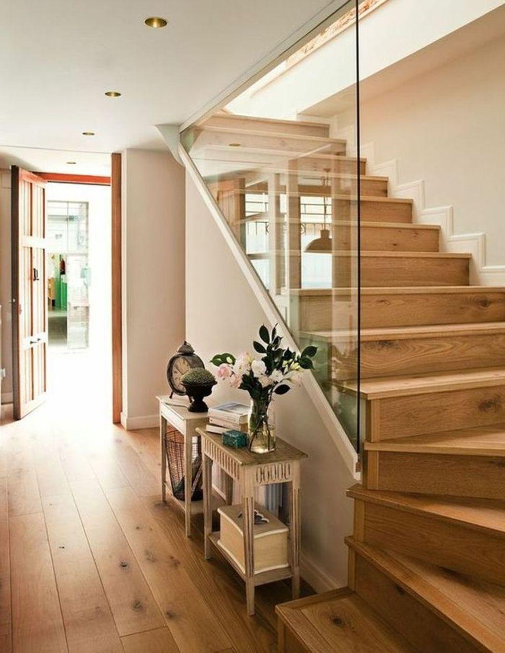 43 Affordable Glass Staircase Design Ideas #staircaseideas