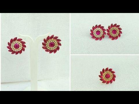 How To Make Paper Earrings Paper Jewellery Making Designer