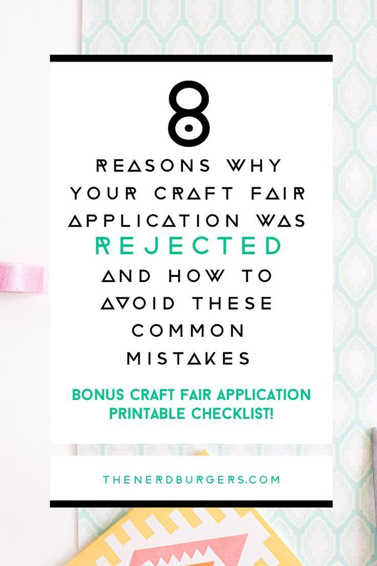 8 reasons why your craft fair application was rejected