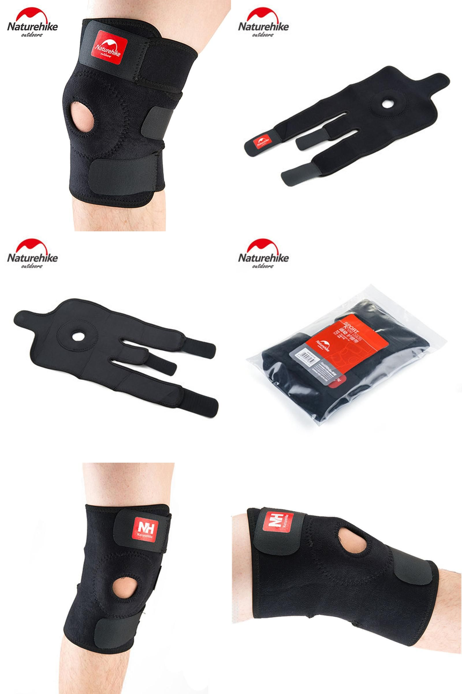 043453808f [Visit to Buy] NatureHike Adjustable Elastic Knee Support Brace Kneepad  Patella Knee Pads Hole Sports Kneepad Safety Guard Strap For Running  #Advertisement