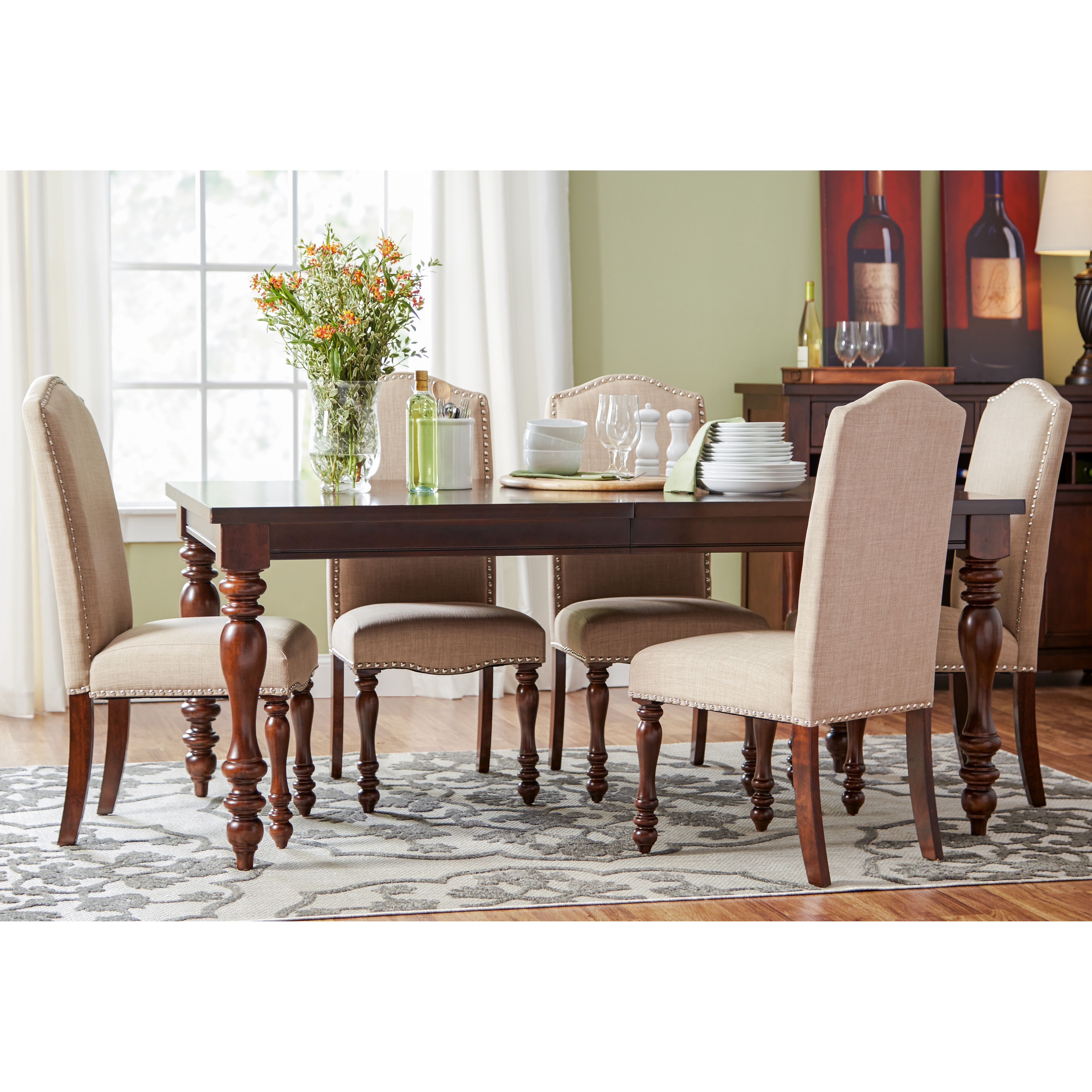 Three Posts Chilton 7 Piece Dining Set Table In Kitchen Chairs Solid Wood