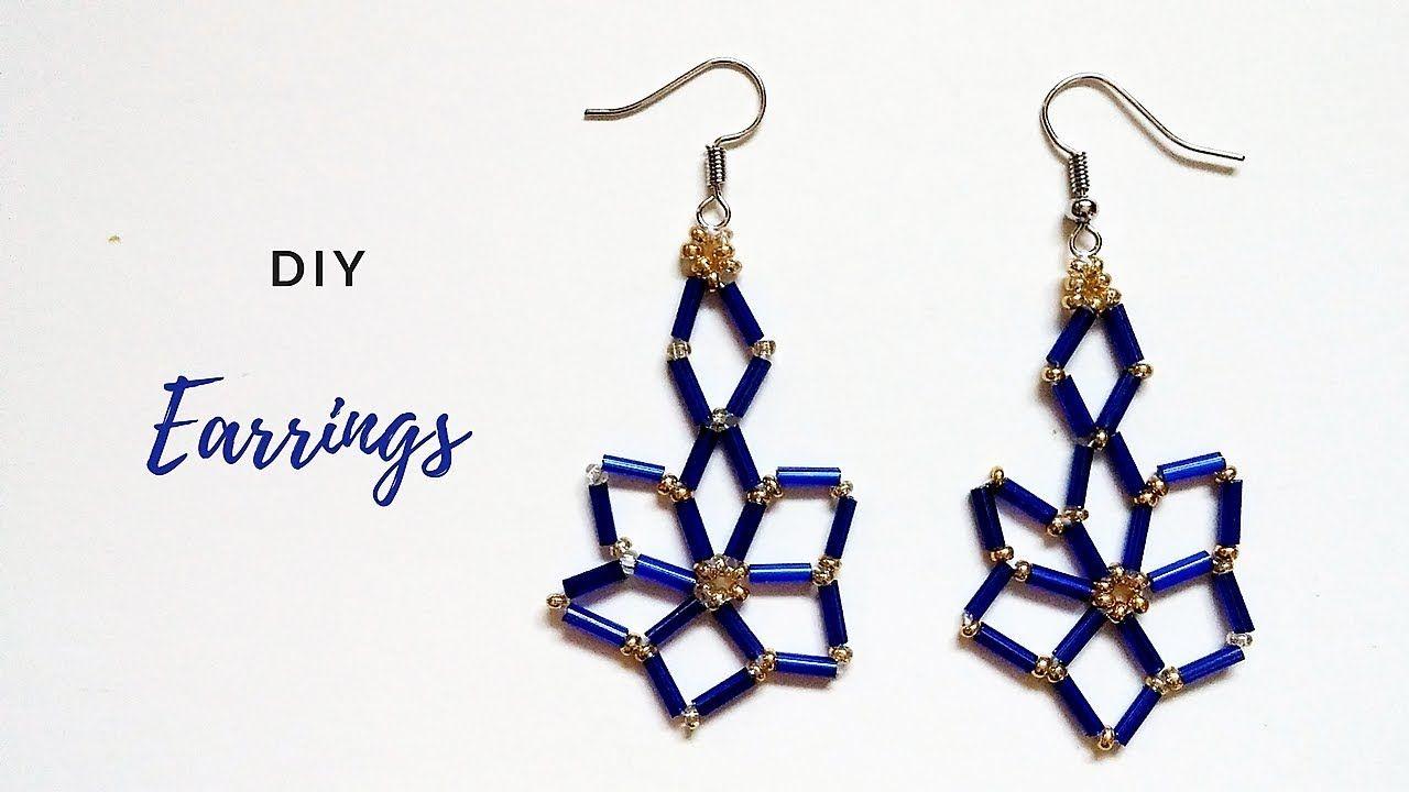 Beaded earrings tutorial be cool by wearing blue easy