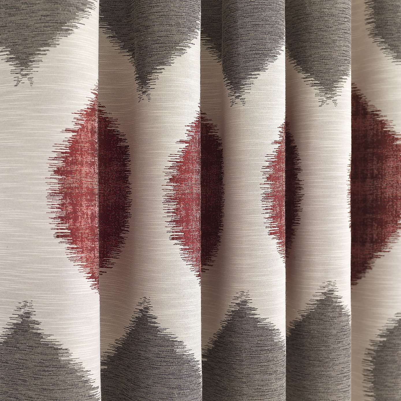 Red And Grey Curtains Dunelm: Morocco Red Lined Pencil Pleat Curtains