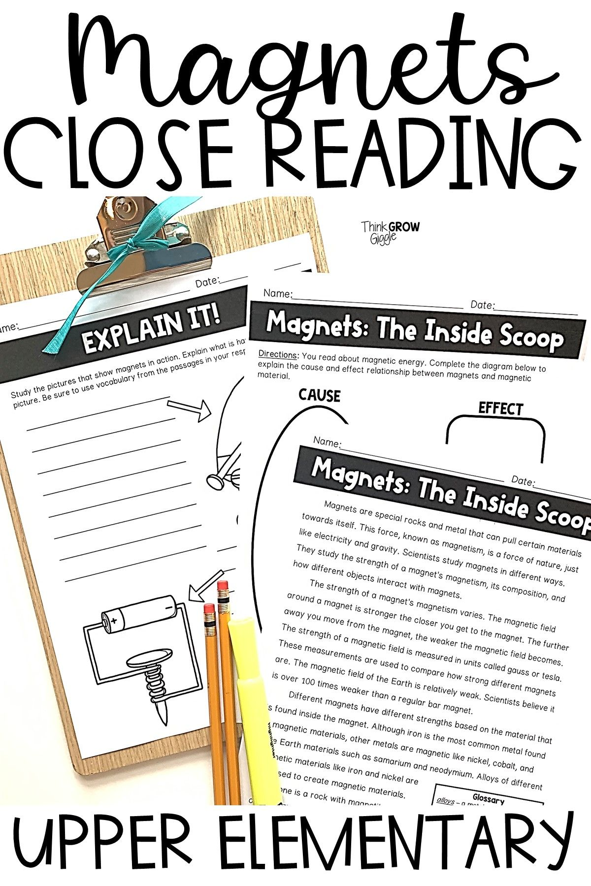 Magnets Reading Comprehension Passages