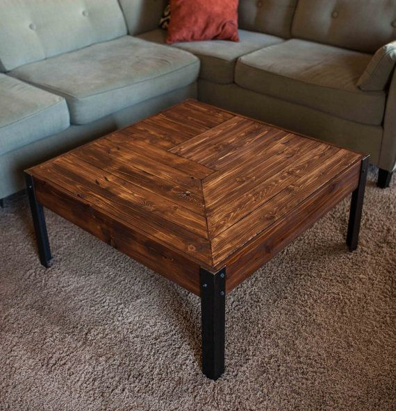 pallet wood and metal leg coffee table | pallet wood, pallets and legs