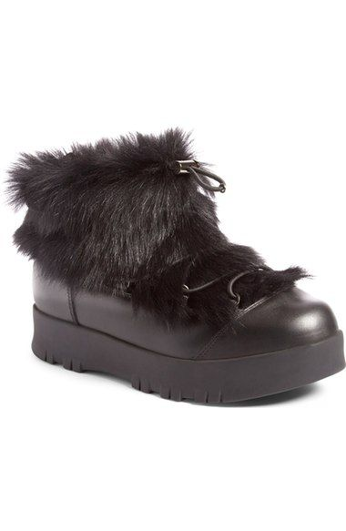 Prada Linea Rossa Platform Snow Boot with Genuine Shearling Trim (Women) available at #Nordstrom