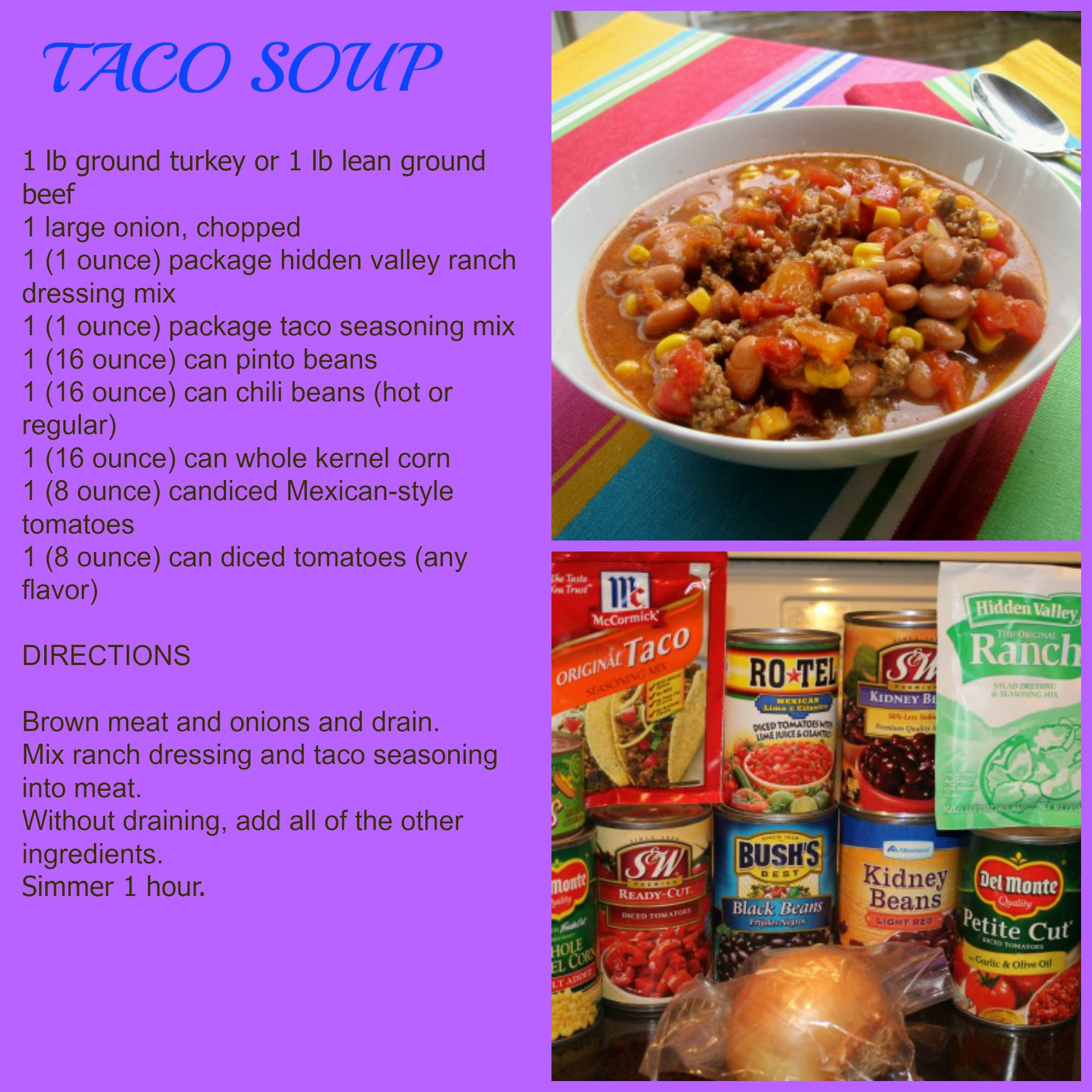 recipe: healthy taco soup with ground turkey [35]