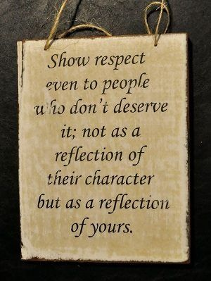 people showing respect