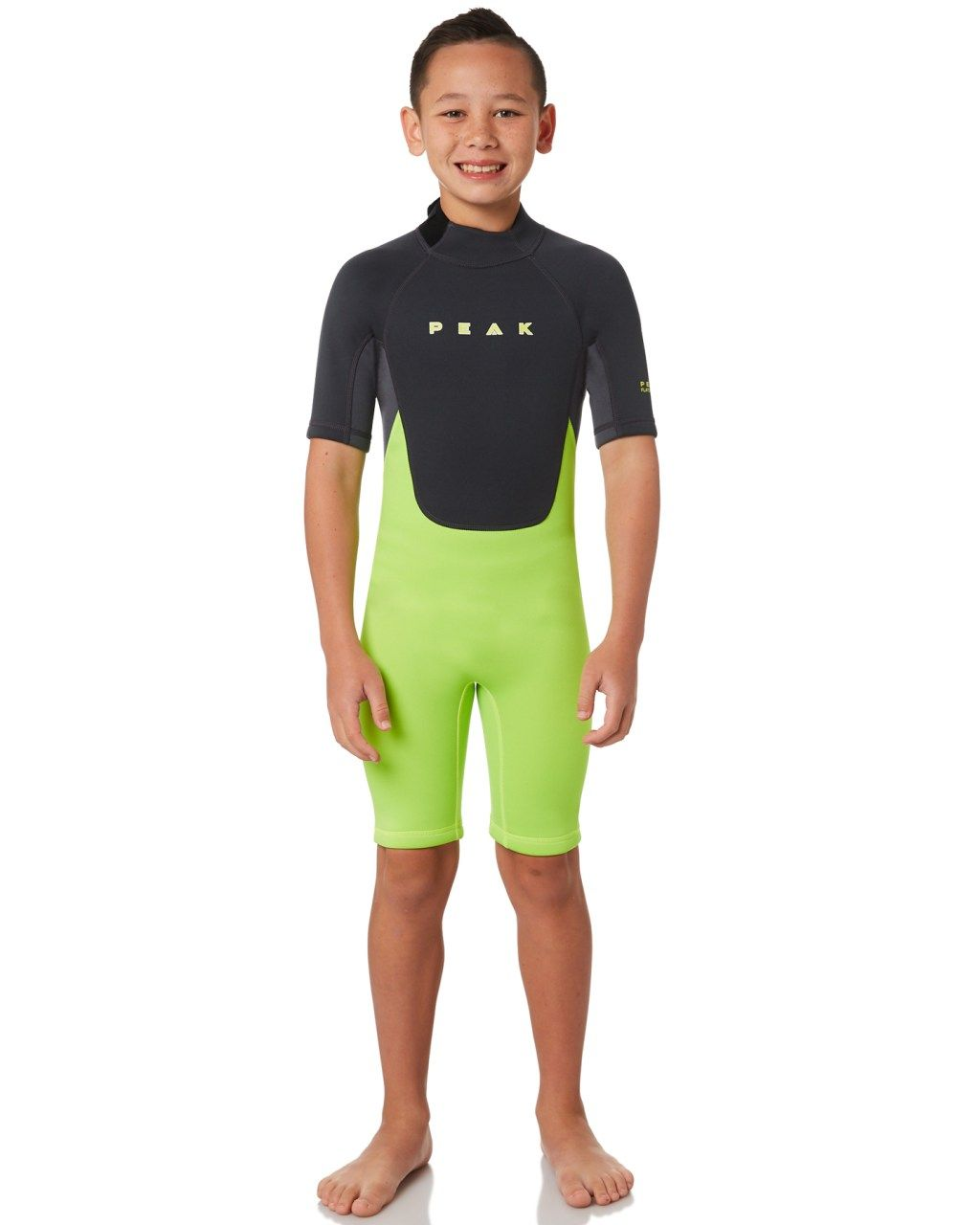 Peak Boys Energy Ss Spring Suit Lime Lime Surfing Wetsuits Size 12 ... 8063f40fa
