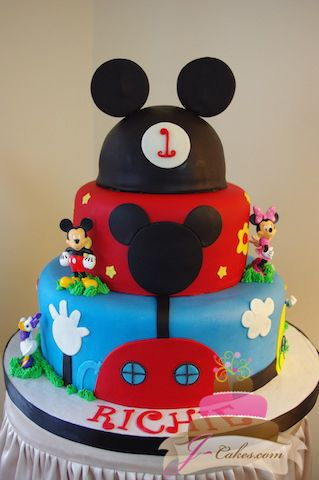 428 Mickey Mouse Clubhouse 1st Birthday Cake Ryan Birthdays