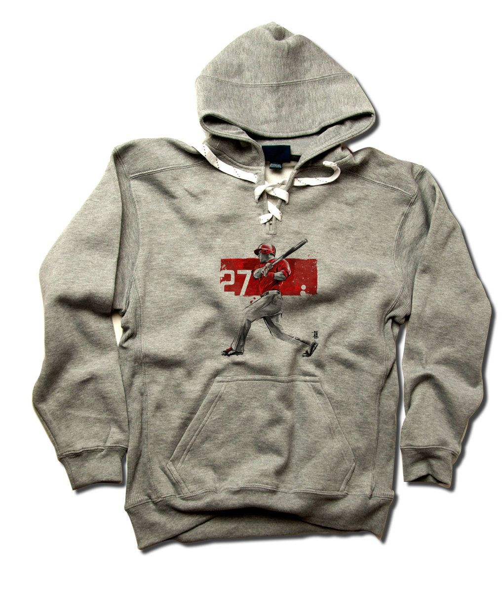 Mike Trout Clutch R Mike Trout Hoodie Los Angeles A Baseball Men/'s Hoodie