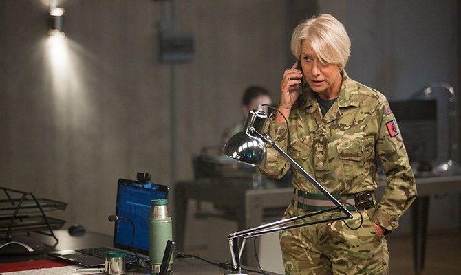 Helen Mirren in Eye in the Sky. A gripping insight into modern warfare against terrorism.