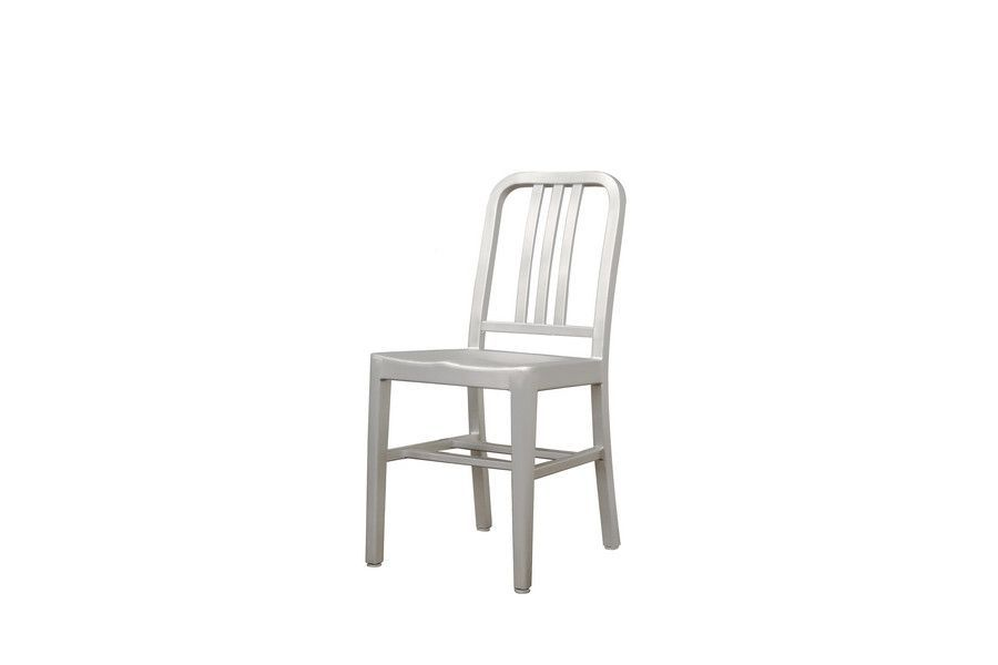 modern cafe chair in brushed aluminum set of two | products